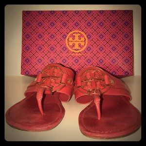 Red Tory Burch Sandals